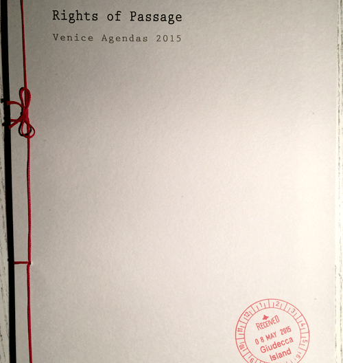 Rights of Passage: Limited Edition Artists Book