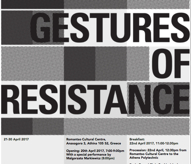 Exhibition: Gestures of Resistance